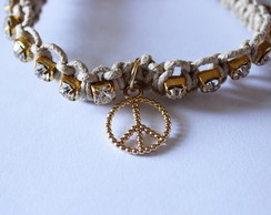 Pulseira Peace and Shine Bege
