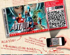 Convite Personalizado Os Vingadores -066