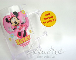 Caneca de acr�lico 450ml - Minnie rosa