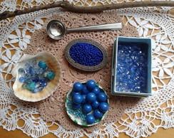 Material - Contas azuis