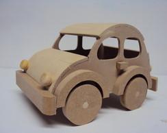 Carrinho fusca brinquedo de madeira