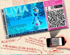 Convite Frozen - Personalizado+Web -063B