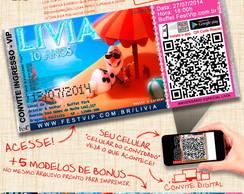 Convite Frozen - Personalizado+Web -063C