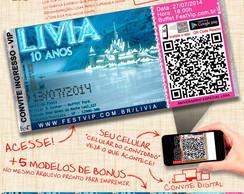 Convite Frozen - Personalizado+Web -063D