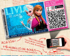 Convite Frozen - Personalizado+Web -063A