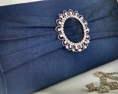 Bolsa Carteira Festa Luxo Azul