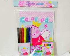 Kit Colorir Peppa Pig