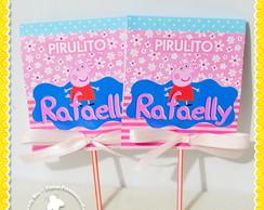 Pirulito Personalizado Peppa Pig