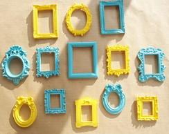 13 mini moldurinhas coloridas