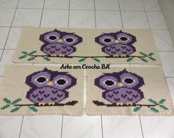 Conjunto de Tapetes Croche Corujinhas