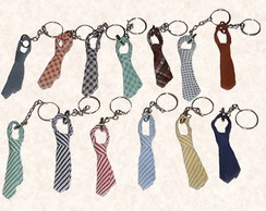 Mini Gravatinhas de Vi�s Chaveiro