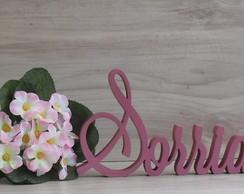 Palavra decorativa Sorria - Modelo LS