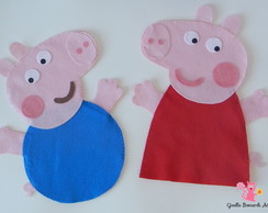 Kit 2 Fantoches Peppa Pig/George