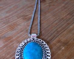 Colar feminino Azul Turquesa