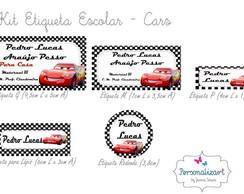 Kit Etiqueta Escolar - CARS
