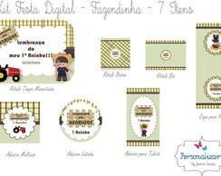 Kit Festa Digital - FAZENDINHA 7 itens