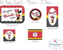 Kit Festa Digital - MINNIE 5 itens
