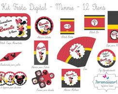 Kit Festa Digital - MINNIE 12 itens