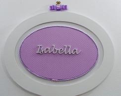 Moldura Oval Po� Lil�s - Isabella