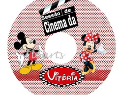 R�tulo CD\DVD MICKEY E MINNIE