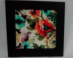 Quadro Decorativo com Rosas Turquesa