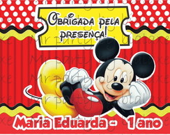R�tulo retangular squeeze Mickey