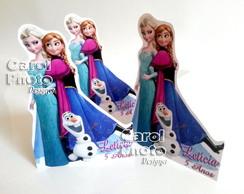 Mini Totens 21cm frozen em PVC