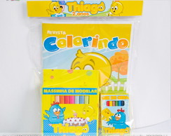 Kit Colorir e Massinha Modelar Galinha