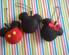 Chaveiro Mickey e Minnie Feltro