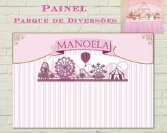 Parque Divers�es Painel IMPRESSO Rosa