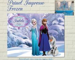 Frozen Painel IMPRESSO Luxo Neve