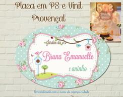 Proven�al Placa PS impresso LUXO