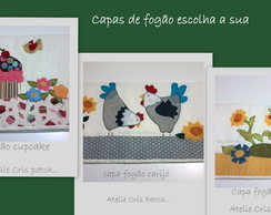 capa fog�o Cupcake/galinha/flores
