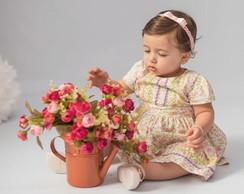 Faixa BABY p�rolas rosa beb� + pulseira