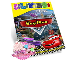 Kit Colorir Carros + Giz de Cera