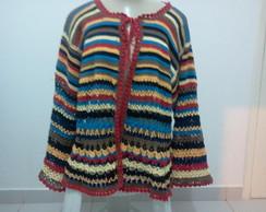 Casaco colorido de croche