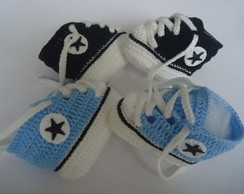 kit contendo 2 tenis all star de croche