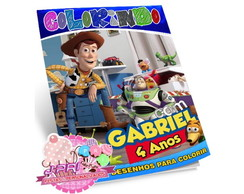 Kit Colorir Toy Story + Giz de Cera