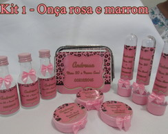 Kit Festa On�a Rosa 1 - 40 pe�as