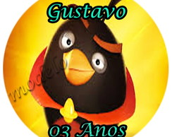 Adesivo �gua mineral 6 cm - Angry Birds