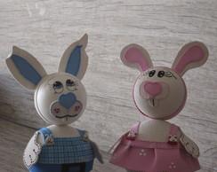 Coelho e Coelha em 3D