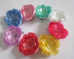 Tic-tac Flores Cetim Coloridas kit c/ 8