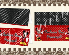 Cart�o de Mesa 12x10cm Mickey e Minnie