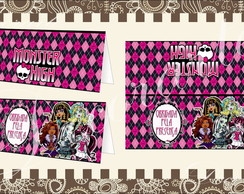 Cart�o de Mesa 12x10cm Monster High