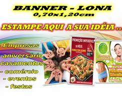 BANNER LONA PERSONALIZADA 0,70x1,20cm