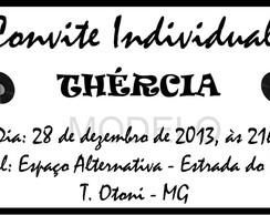Convite Individual Anos 60