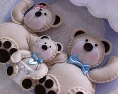 Enfeite porta maternidade ursinhos
