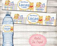 R�tulo para �gua Ursinho Pooh baby