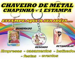 CHAVEIRO - METAL CHAPINHA 1 ESTAMPA