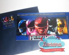 Convite Ingresso Power Rangers